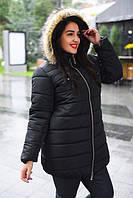 Зимняя женская куртка с натуральным мехом БАТАЛ