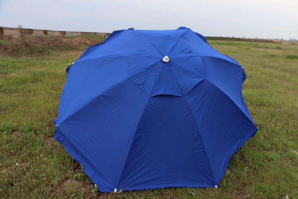 Зонт 3м из плотной ткани с ветровым клапаном