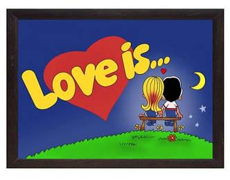 Мини поднос на подушке Love is