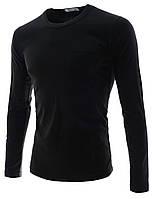 Стильная футболка с длинными рукавами и карманом Black. Производства Украина