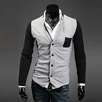 Стильный двухцветный кардиган Gray/Black. Производства Украина