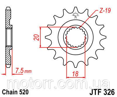 Звезда передняя JT JTF326.13