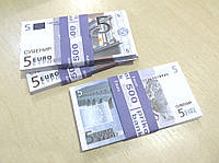 Сувенирные купюры, деньги 5 евро