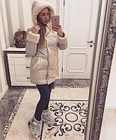 Зимняя женская куртка утепленная силиконом 200