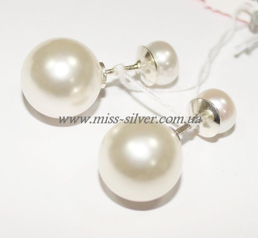Серьги шары серебро Dior - Miss Silver – магазин ювелирных украшений из серебра в Белой Церкви