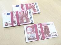 Сувенирные купюры, деньги 10 евро