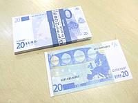 Сувенирные купюры, деньги 20 евро