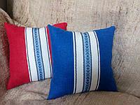 Подушка, декоративная, льнанная