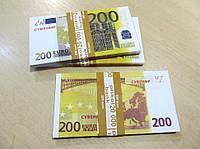 Сувенирные купюры, деньги 200 евро