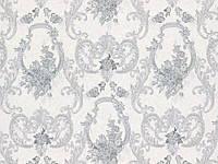 Обои на стену, винил на флизелине, В109 3501-10, княжна, серый, черно-белый, 1,06*10м