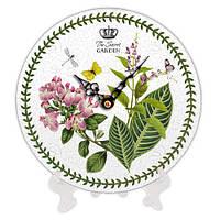 Часы настольные с принтом Орхидея 18 см