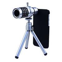 12 зум Линзовый телескоп для iPhone 5 серебро