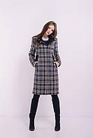 Женское стильное клетчатое пальто на весну от производителя