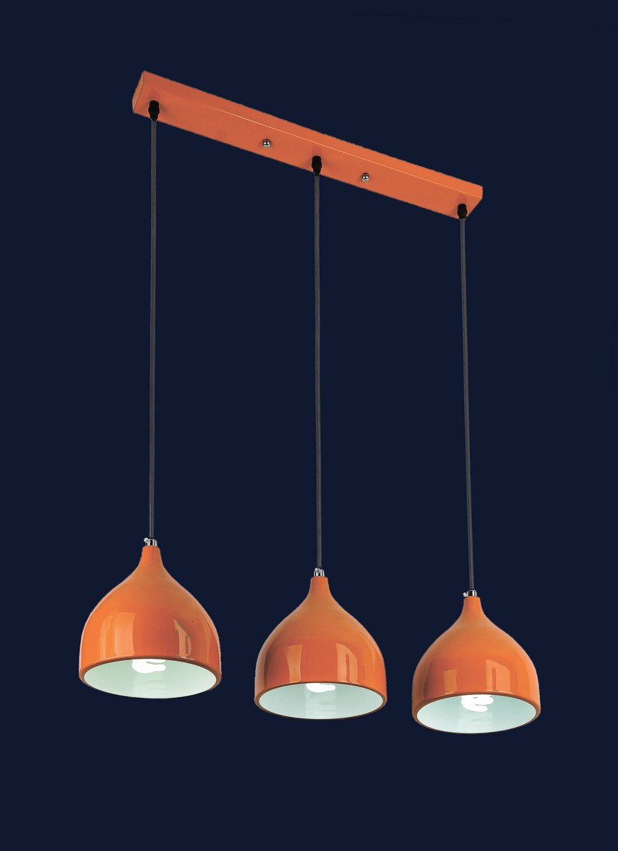 Оранжевая люстра на три плафона 7044461-3 ORANGE