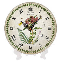 Часы круглые с принтом Таинственный сад 18 см