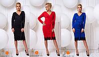 Женское платье кружевным низом - размер 40-42, 44-46