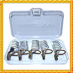 Формы Серебро Многоразовые для Наращивания Ногтей, Набор из 5 форм Упаковкой 10 шт.