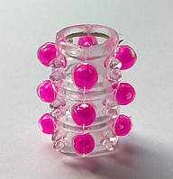Насадка бесцветная с розовыми бусинами