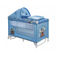 Манеж Bertoni NANNY 2L+ ROCKER (blue adventure)