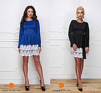 Женское платье с кружевным низом - размер 40-42, 44-46