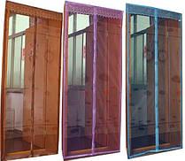 Антимоскитная штора с напечатанным изображением на комбинированом магните 100*210 коричневый