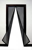 Антимоскитная штора  на магнитах  Magic Mesh (100 * 210) бежевая и черная