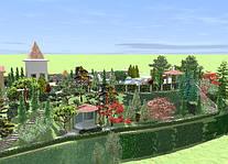 Применение рельефа в ландшафте туристического комплекса 0,75 га