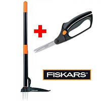 Набор Fiskars вырыватель сорняков и ножницы