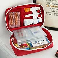 Органайзер аптечка для дома и в путешествия большая красная