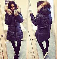 """Зимняя женская куртка с натуральным мехом """"Оливер"""""""