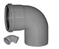 Коліно каналізаційне ПП, d-110 мм 90*