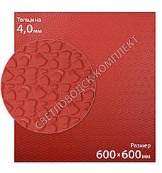 Резина подметочная каучуковая MAGNA WINTER, МАГНА ВИНТЕР, (Китай), р. 600*600*4.0 мм, цв. красный