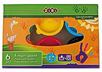 Краски пальчиковые ZiBi 6 цветов 35 мл в картонной упаковке (ZB.6561)