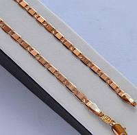 Цепочка покрытие золотом 18к. плетение картье с поперечными насечками 45 см