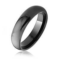 Черное кольцо из карбида вольфрама 6 мм
