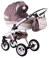 Детская коляска универсальная 2 в 1 Adamex Aspena World Collection Love Cappucino (Аспена)