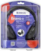 Стерео-наушники Defender Bravo HN-015 накладные с микрофоном Black