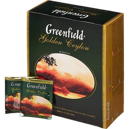 Чай Greenfield Golden Ceylon черный 100 пакетиков, фото 2