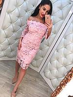 Женское красивое элегантное кружевное платье