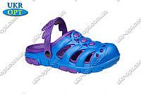 Детские кроксы (Код: Сабо синий-фиолет)
