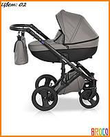 Детская коляска кожаная 2 в 1 VERDI MIRAGE  Grey 02