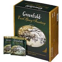Чай GREENFIELD Earl Grey Fantasy черный ароматизированный, пакетированный, 100 пак/уп
