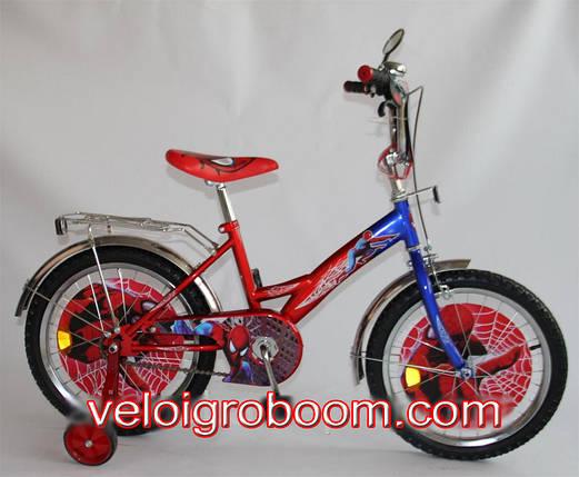 """Велосипед двухколесный для мальчика """"Spider-Man"""" 18 дюймов на 5, 6, 7 лет, фото 2"""