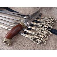 """Подарочный набор """"Охота на кабана"""", шампура + охотничий нож"""