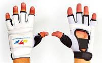 Перчатки для таеквондо WTF (полиуретан) белые L