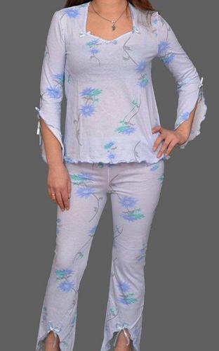 Хлопковая пижама женская кофта с брюками домашний комплект Украина