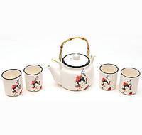 """Набор Iwaki """"Гейши"""" для чайной церемонии, 5 предметов на 4 персоны"""