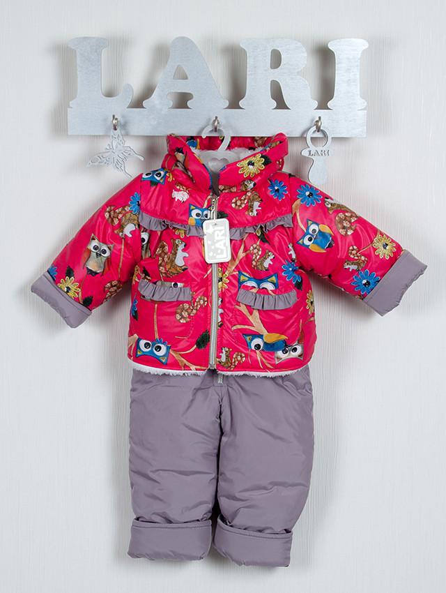 Зимний полукомбинезон и куртка для девочки с совами