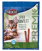 Trixie (Трикси) Premio Stick Quintett лакомство мясные палочки для кошек 25 г (птица и печень)
