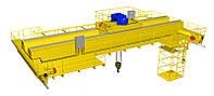 Мостовой кран двухбалочный электрический г/п 32/5т., управление с пола (режим А2)(СДМ-Групп, Украина)